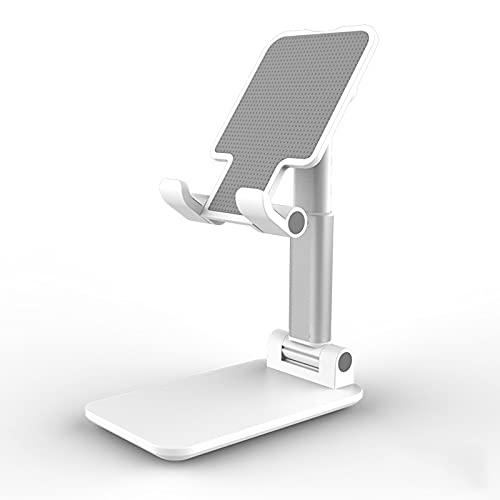 Soporte Ajustable Para Teléfono Celular, Soporte Para Teléfono Portátil Plegable, Cuna Regulable en Altura, Estable y Fácil de Usar, Soporte Para Tableta Compatible con Teléfonos,white
