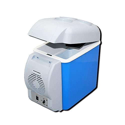 RURUZI Nevera de coche de 12 V 7,5 l nevera de coche y caja de calentador (azul) nevera congelador de coche (nombre del color: azul)