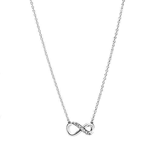 Pandora funkelnde Unendlichkeits-Halskette Sterling-Silber Cubic Zirkonia, 4,3mm x 7mm x 14mm, 398821C01-50