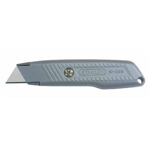 Stanley Messer 299 (feststehende Klinge, robustes Gehäuse, ergonomisches Design, InterLock, drei Ersatzklingen) 0-10-299