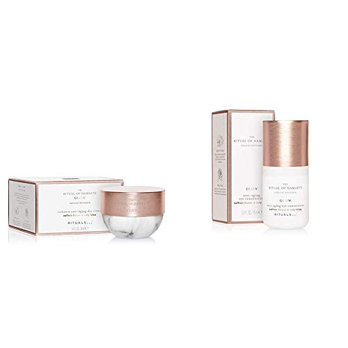 RITUALS The Ritual of Namasté Radiance Anti-Aging Tagescreme, Glow Kollektion, 50 ml & The Ritual of Namasté Anti-Aging Augencreme, Glow Kollektion, 15 ml