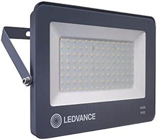LEDVANCE LED ECO Flood Floodlight 100W, Car Park/Security/Architectural, Light Weight, Slim Design, IP65 Water Resistance ...