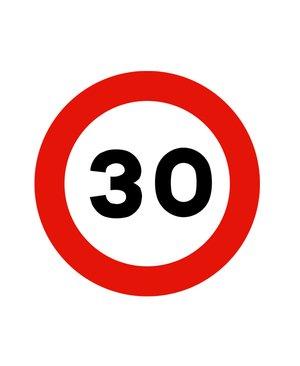Señal metálica 50 cms (Chapa plana económica) R-301 Velocidad Máxima 30