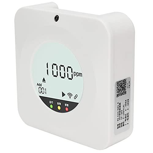 Soporte Instalación en pared Larga vida útil Sensor de alta precisión Sensor de gas combustible Alarma de gas combustible, para oficinas con control remoto