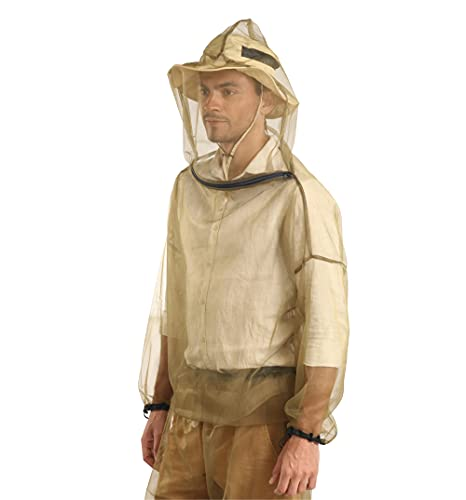 Mosquito Suit - Net Bug Pants & Jacket w/ Hood - Mesh Bug Suit for Outdoor Protection from Bugs, Flies, Gnats, No-See-Ums & Midges - Clothing for Men & Women - w/ Free Carry Pouch