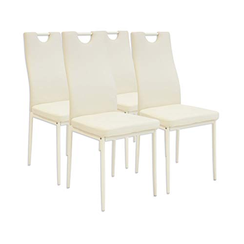 Albatros Salerno Esszimmerstühle, 4-er Set, beige, SGS getestet