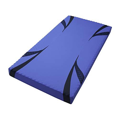 西川[エアー01]ベッドマットレスセミシングル(キングサイズ対応横幅90cm)高反発厚み8cm特殊立体波形凹凸構造通気性軽量2台並べるとキングサイズにコンパクトな圧縮梱包でお届けエアーAiRブルー/ハードHC99601630B