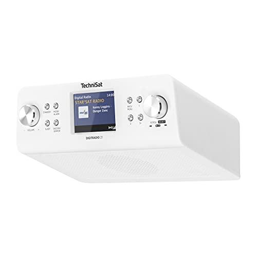 TechniSat DIGITRADIO 21 - DAB+ Unterbau-Küchenradio (DAB+, UKW, 2,8 Farbdisplay, Favoritenspeicher, Wecker, Kopfhöreranschluss) weiß