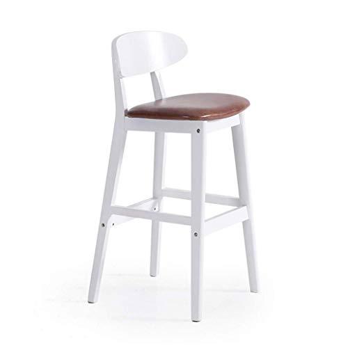JFya Barhocker Barhocker Rückenlehne Retro kreative Barhocker Fußhocker über Massivholzstuhl Beauty Stuhl (Farbe : B)