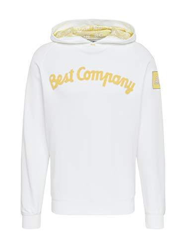 BEST COMPANY Herren Sweatshirt Hoodie Classic weiß M