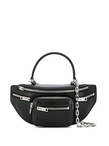 Alexander Wang Moda De Lujo Mujer 20C120R146001 Negro Cuero Bolso De Mano...