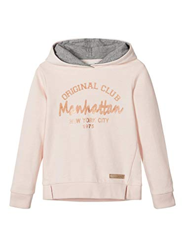 NAME IT Mädchen NKFTPRETTY SWE W Hood UNB Sweatshirt, Rosa (Barely Pink Barely Pink), 146-152