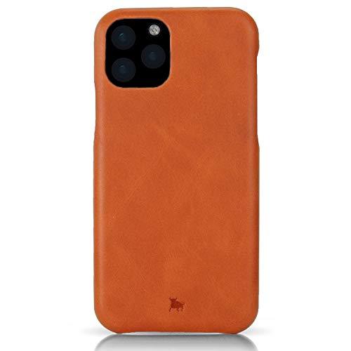 BULLAZO Menor Classic – kompatibel mit iPhone 11 Case Schutzhülle Handy Hülle aus hochwertigem Leder iPhone XI Cognac