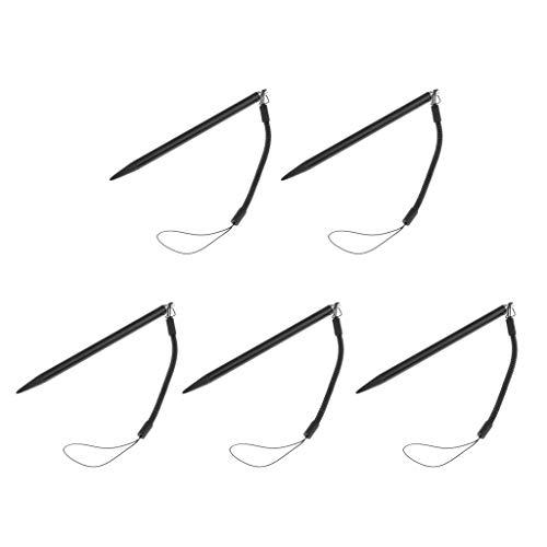 prasku Lápiz óptico de Pantalla Táctil con Lápiz Resistivo de 5 Juegos para Tabletas Y Teléfonos con Almohadilla, Negro