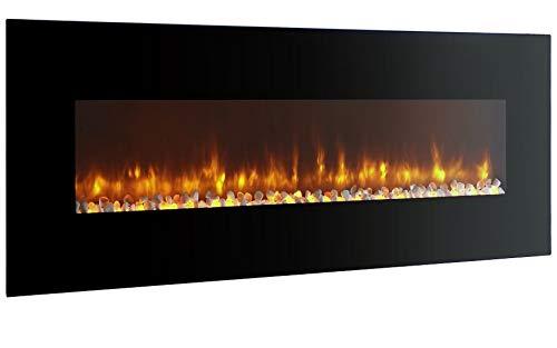 Breakling 053 cheminee electrique, Noire, 120x13x52cm