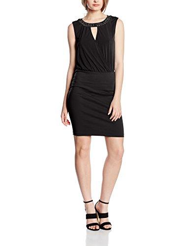ONLY Damen onlZIGGA S/L Dress JRS Kleid, Schwarz (Black), 40 (Herstellergröße: L)