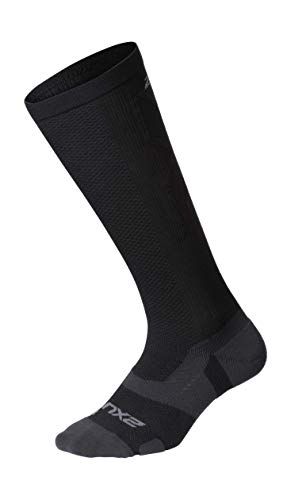 2XU Vectr Full Length Sock, Black/Titanium, L1