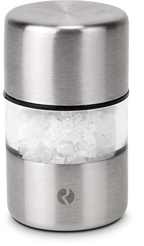 ROMINOX Geschenkartikel Mini Salz- oder Pfeffermühle // Milam – dekorative Gewürzmühle, Manuelle Minimühle, mit Keramikmahlwerk, ideal für Reisen und unterwegs; Maße: ca. 3 x 3 x 5.5 cm