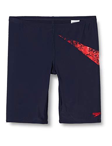 Speedo Jungen Boomstar Placement Schwimmhose, True Navy/Fed Red, 32 (DE 164)