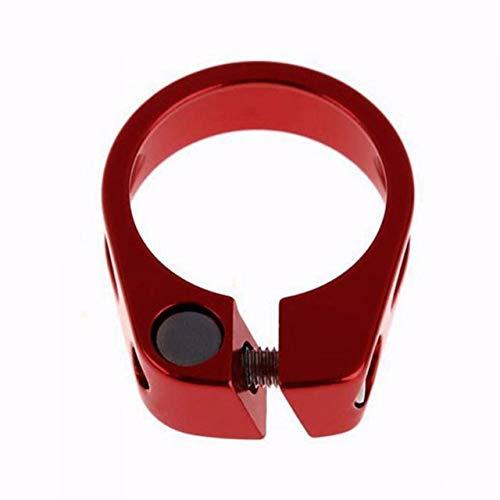 NSGJUYT Bicicleta Bicicleta Asiento Poste Pinza 31,8 mm / 34.9mm Sillero de sillín Piezas de Engranajes fijos (Color : Red 34 9mm)