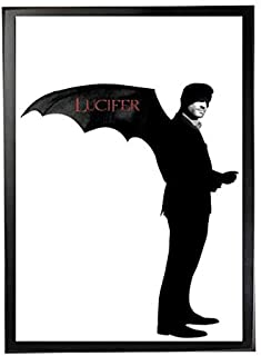 Artwork frame for Lucifer Netflix with black wooden frame, it can be held in the wall , 2724960087526