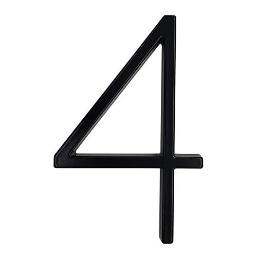 Ztengyu-Número de dirección postal Números negro placa de dirección, Dash sesión raya vertical # 0-9, Casa flotante grandes letras del alfabeto moderno puerta principal al aire libre en 5, Usos ilimit