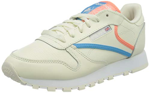 Reebok Classic Leather, Zapatillas Mujer, Footwear White Carbon Vector Red, 35.5 EU