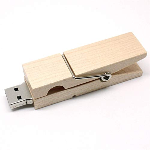 Clothespin 16GB USB Flash Pen Drive Memory Thumb Stick Data Opslag Echt Hout