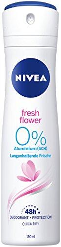 NIVEA, Deo-Spray für Frauen, Ohne Aluminium, Deo-Schutz, 150 ml, Fresh Flower, 80058