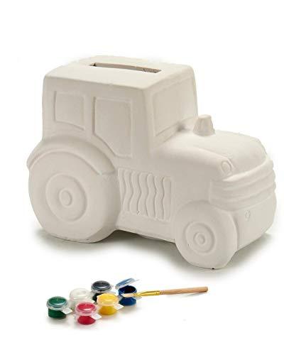 B&F Hucha para Pintar con Acuarelas para niños. Incluye Pincel y Pinturas (Tractor)