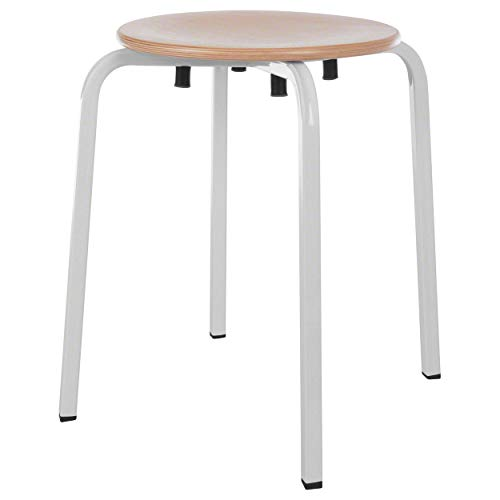 Sport-Tec Gymnastikhocker Exklusiv mit Holzsitzfläche, ø 35 cm, Sitzhocker, Hocker