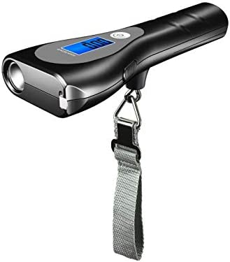 3 in 1 Multifunctional Luggage Scale with Measuring Tape and LED Flashlight 110LBs 50KGS Fishing product image