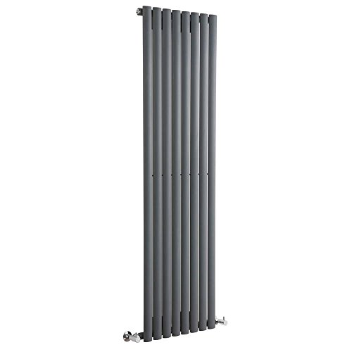 Hudson Reed Revive Radiatore Termoarredo di Design Verticale Moderno - Termosifone con Finitura In Antracite - Design a Colonna - 1600 x 472 x 56mm - 1122W - Riscaldamento ad Acqua Calda