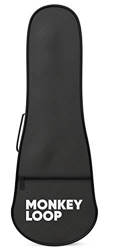 Monkey Loop - Jungle UKB-21 - Funda para Ukelele Soprano - Color Negro - Acolchado de 5 mm de Grosor - Alta Calidad - Protección Superior - Asa y Correa de Hombro - Bolsillo Exterior de Almacenaje