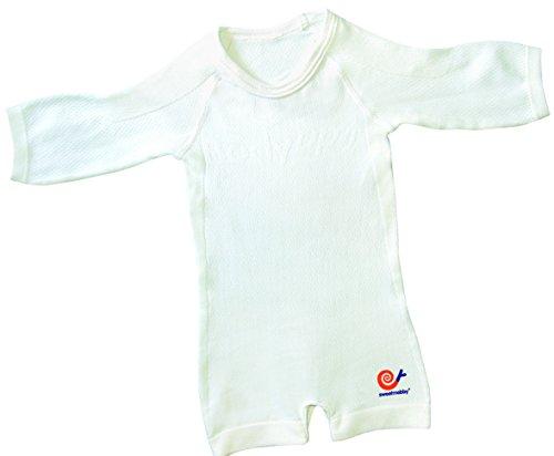Mebby Épais Body pour Bébé à Longues Manches - Blanc - 0 à 3 ans