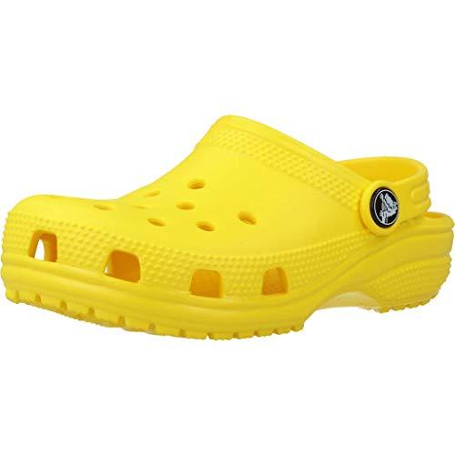 Sandalias amarillas estilo Crocs
