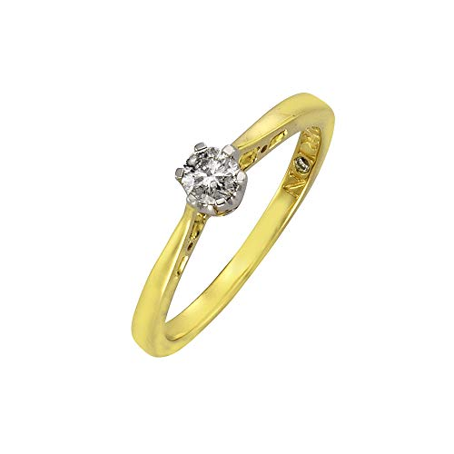 Diamonds by Ellen K. 317370015-4-016 - Anillo de de oro bicolor (14k) con diamantes (talla: 10)