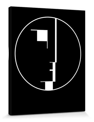 1art1 Oskar Schlemmer - Staatliches Bauhaus, Logo, 1922 Bilder Leinwand-Bild Auf Keilrahmen | XXL-Wandbild Poster Kunstdruck Als Leinwandbild 50 x 40 cm
