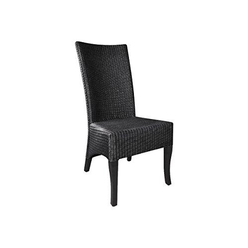 AUBRY GASPARD Chaise en Loom Noire