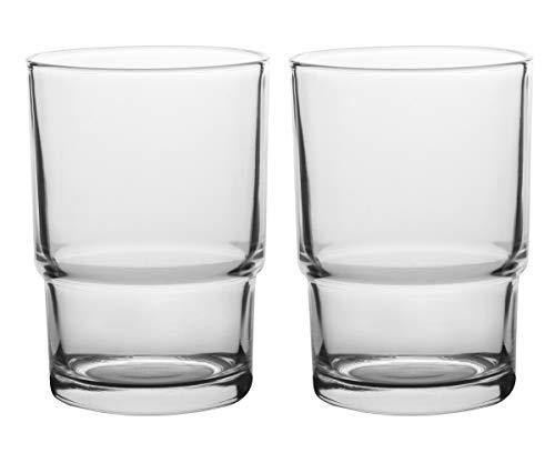 Livpow Zahnputzbecher Glas Ersatz Klarglas Packung Von 2 MEHRWEG