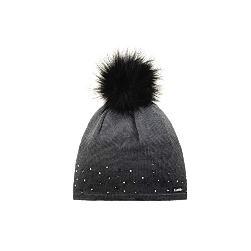 Eisbär Damen Dip Dye Lux Crystal Mütze, graumele Bedruckt mit schwarz, One Size
