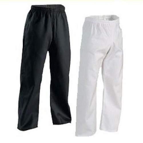 ProForce Gladiator Student 6oz. Martial Arts-Karate Deluxe Pants (Elastic Waist) WHITE (White, size 3-5'6