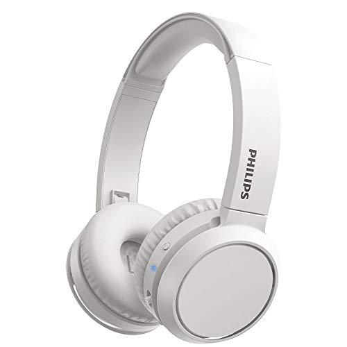 Philips H4205WT 00 Cuffie Bluetooth con Tasto Bass Boost, Bluetooth, 29 Ore di Riproduzione, Funzione Ricarica Rapida, Isolamento dai Rumori, Richiudibile, Modello 2020 2021, Bianco