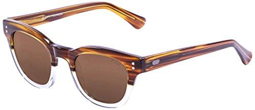 Ocean Sunglasses Santa Cruz Lunettes de soleil Light Brown/White Transparent Down/Brown Lens