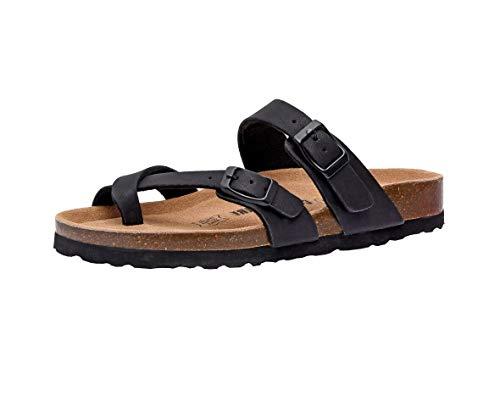 Women's Cushionaire, Luna Low Heel Slide Sandals Black 8 M