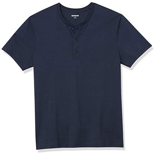 Goodthreads Cotone a Maniche Corte Henley Shirts, Dainty, XL
