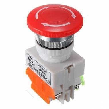 Bheema N/AN/C Notaus-Schalter Push Button Mushroom 4 Schraubklemmen