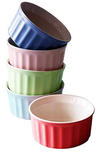 Cestash 6 Ounce Porcelain Oven Safe Ramekins for Baking - (Set of 5)