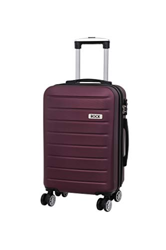 Rock Oakland 54cm Cabin Size Expandable Hardshell 8 Wheel Spinner Suitcase Wine