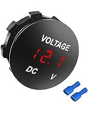 Sraeriot Car Voltmeter Panel Rode Led Display 12-24 V Motor Boats Battery Voltage Meter
